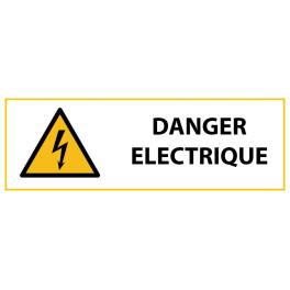 """Panneau de Danger """"Electricité"""" Vinyle 297x105mm"""