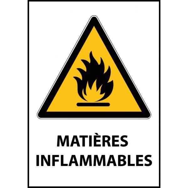 """Panneau de Danger """"Produit inflammable"""" Vinyle A5"""
