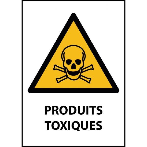 """Panneau de Danger """"Produit toxique"""" Vinyle A5"""