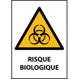"""Panneau de Danger """"Risque biologique"""" Vinyle A5"""