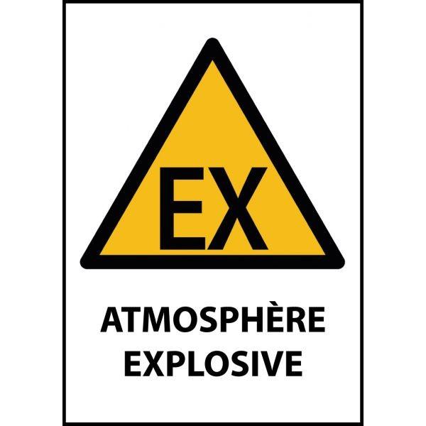"""Panneau de Danger """"Atmosphère explosive"""" Vinyle A5"""