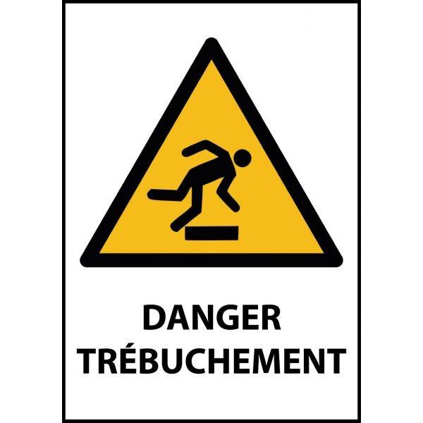 """Panneau de Danger """"Trébuchement"""" Vinyle A5"""