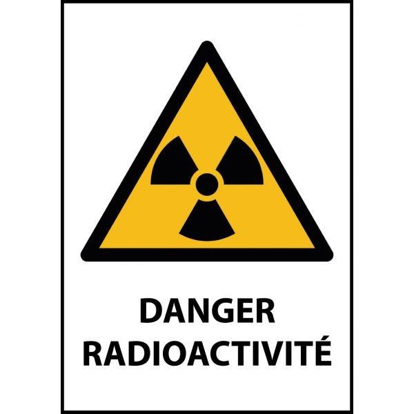 """Panneau de Danger """"Radioactivité"""" Vinyle A5"""