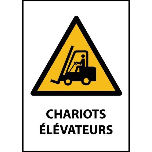 """Panneau de Danger """"Chariots élévateurs et autres véhicules industriels"""" Vinyle A5"""
