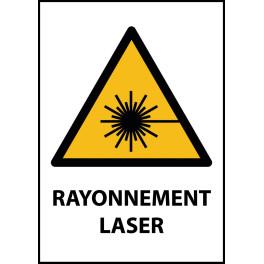 """Panneau de Danger """"Rayonnement laser"""" Vinyle A5"""