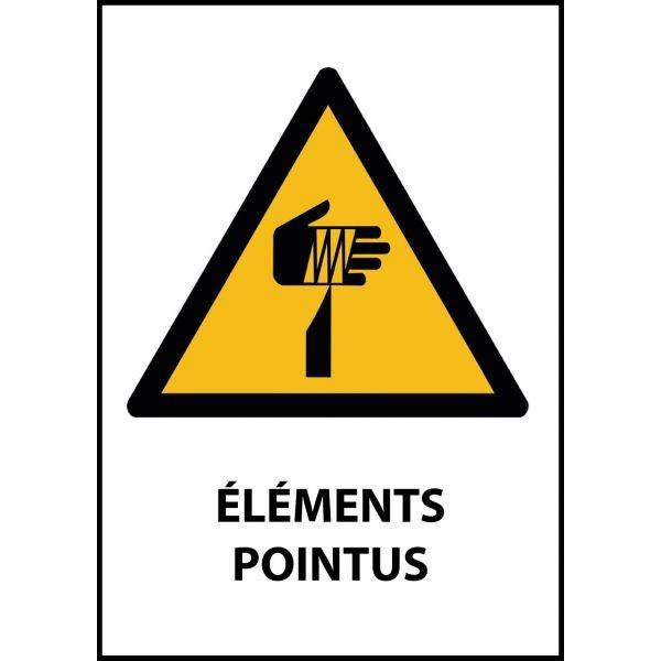 """Panneau de Danger """"Eléments pointus"""" Vinyle A5"""