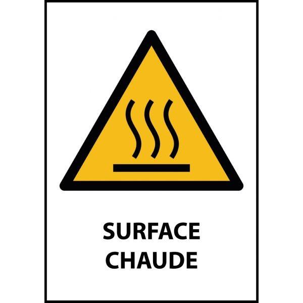 """Panneau de Danger """"Surface chaude"""" Vinyle A5"""