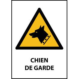 """Panneau de Danger """"Chien de Garde"""" Vinyle A5"""
