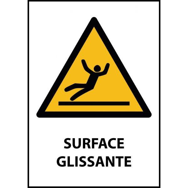 """Panneau de Danger """"Surface glissante"""" Vinyle A5"""