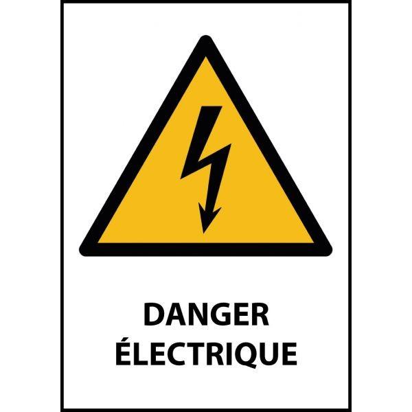 """Panneau de Danger """"Electricité"""" Vinyle A5"""