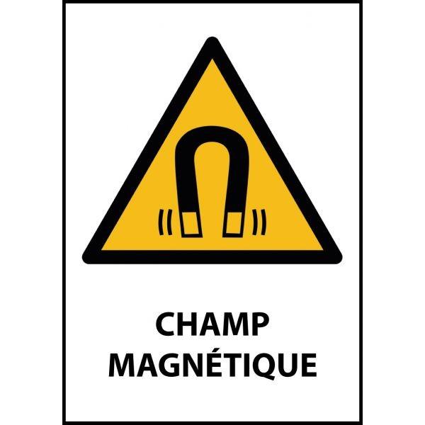 """Panneau de Danger """"Champ magnétique"""" Vinyle A5"""