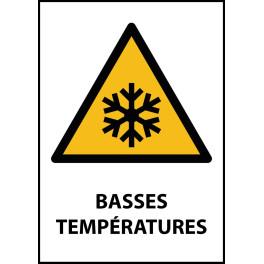 """Panneau de Danger """"Basses températures"""" Vinyle A5"""