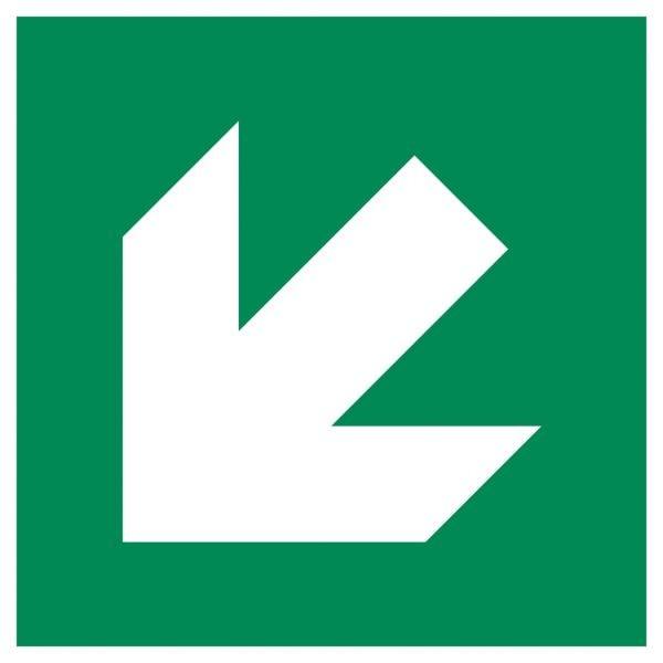 Signalétique évacuation flèche diagonale