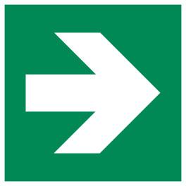 Signalétique Evacuation flèche droite