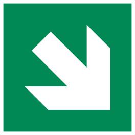 Signalétique Evacuation flèche diagonale en bas à droite