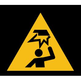 """Pictogramme de Danger """"Obstable en hauteur"""""""