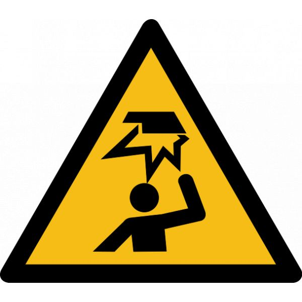 "Pictogramme de Danger ""Obstable en hauteur"""