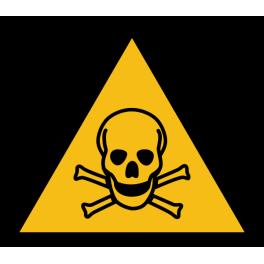 """Pictogramme de Danger """"Produit toxique"""""""