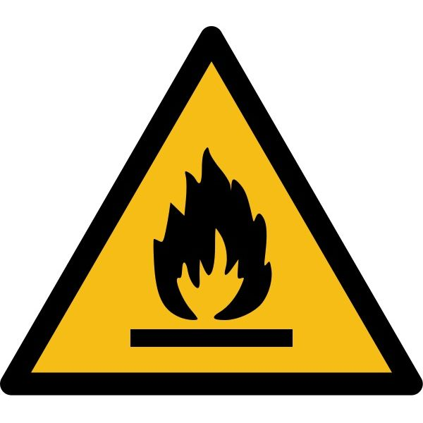 """Pictogramme de Danger """"Produit inflammable"""""""
