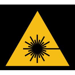 "Pictogramme de Danger ""Rayonnement laser"""