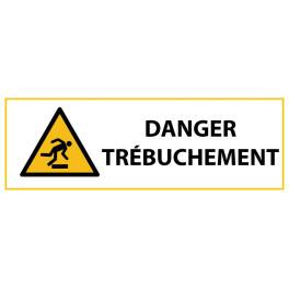 """Panneau de Danger """"Trébuchement"""" Vinyle 297x105mm"""