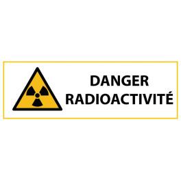 """Panneau de Danger """"Radioactivité"""" Vinyle 297x105mm"""