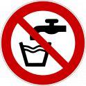 "Panneau rond ISO EN 7010 ""Eau non potable"" P005"