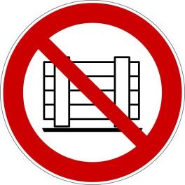 """Panneau rond ISO EN 7010 """"Ne pas obstruer"""" P023"""
