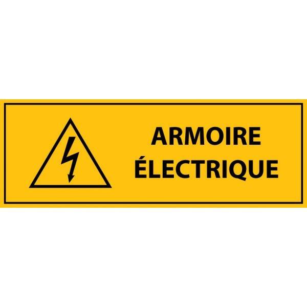 """panneau rectangulaire """" armoire électrique """" - Autocollant"""