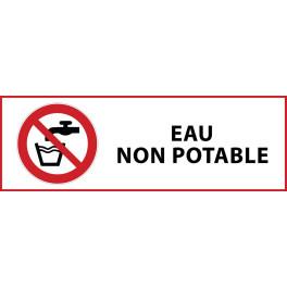"""Panneau d'Interdiction """"Eau non-potable"""" Vinyle souple 297x105mm"""
