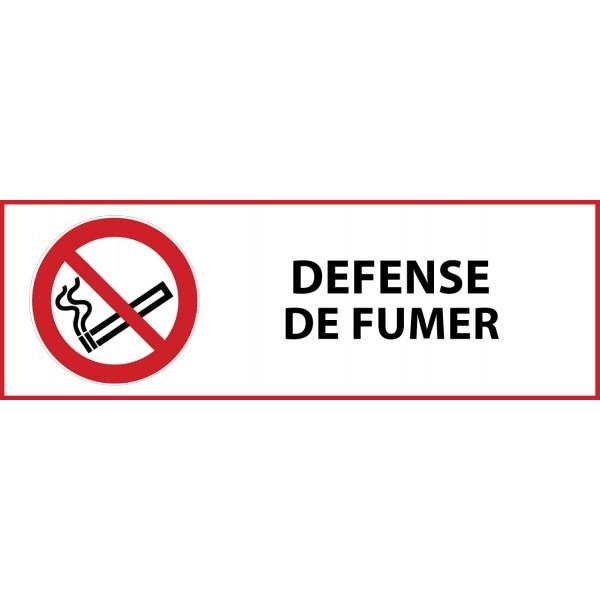 """Pictogramme d'interdiction """"Défense de fumer"""" Vinyle 297x105mm"""