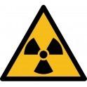 """Rouleau Mini Pictogramme de Danger """"Radioactivité"""" autocollants"""
