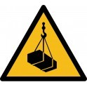 "Rouleau Mini Pictogramme de Danger ""Charges suspendues"" autocollants"