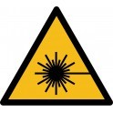 "Rouleau Mini Pictogramme de Danger ""Rayonnement laser"" autocollants"