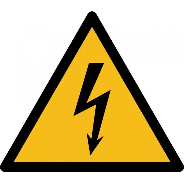 """Rouleau Mini Pictogramme de Danger """"Electricité"""" autocollants"""