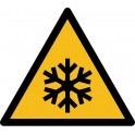 """Rouleau Mini Pictogramme de Danger """"Basses températures"""" autocollants"""