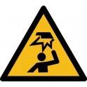 """Rouleau Mini Pictogramme de Danger """"Obstacle en hauteur"""" autocollants"""