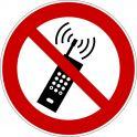 """Rouleau Mini Pictogramme d'Interdiction double-face """"Interdiction d'activer des téléphones mobiles"""""""