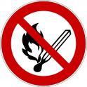 """Rouleau Mini Pictogramme d'Interdiction double-face """"Flammes nues interdites"""""""