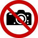"""Rouleau Mini Pictogramme d'Interdiction double-face """"Interdiction de photographier"""""""
