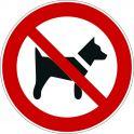 """Rouleau Mini Pictogramme d'Interdiction double-face """"Interdit aux chiens"""""""