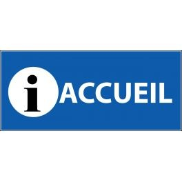 Panneau d'information Plat PVC - Accueil