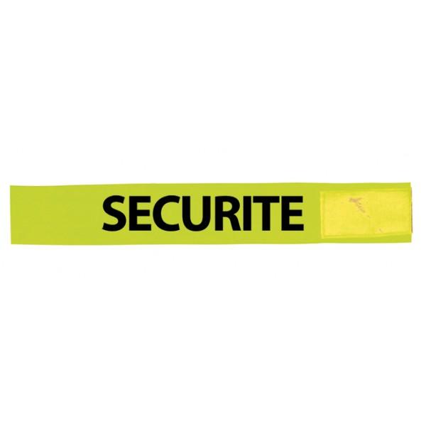 Brassard Jaune PVC Sécurité