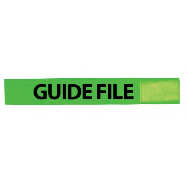 Brassard Vert PVC Guide file