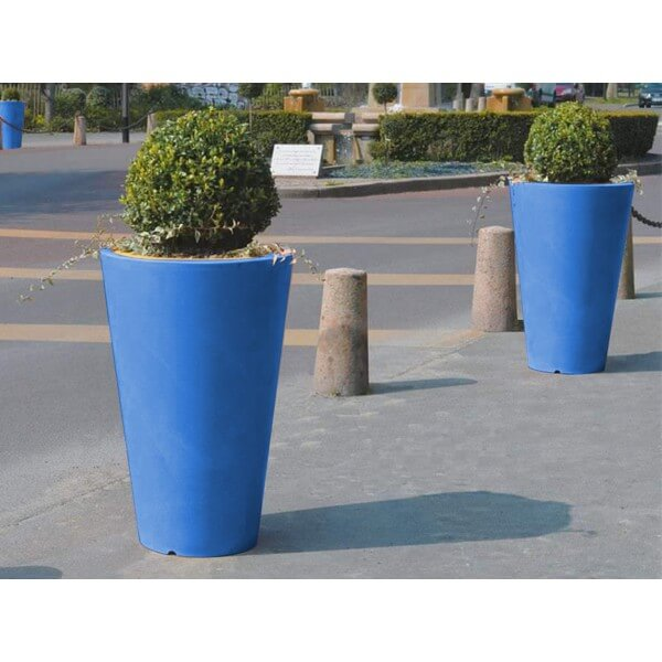 Pot de Fleurs AMPHOR bleu foncé