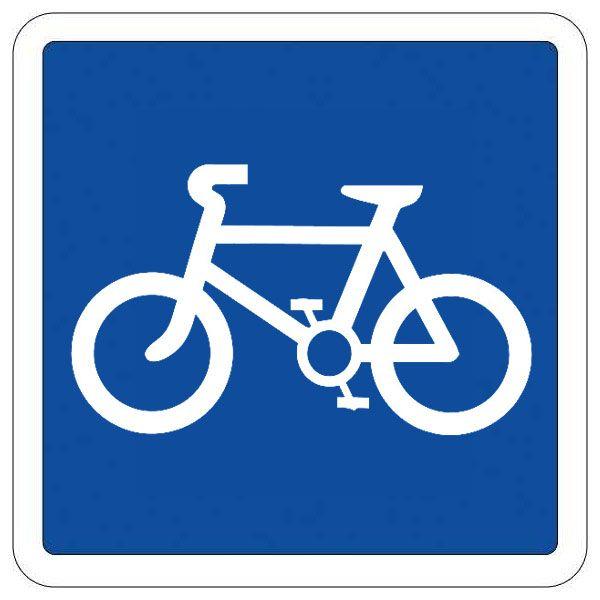 Panneau Indication Type C - Voie réservée aux cyclistes
