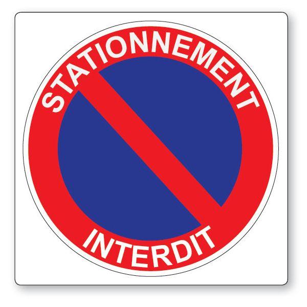 Panneau de circulation Plat carré Aludibond - Stationnement interdit