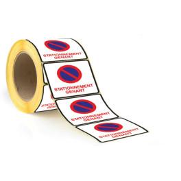 Rouleau Etiquettes dissuasives - Stationnement gênant