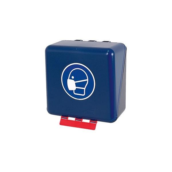 EPIBOXI - Boîte de rangement bleue pour protections respiratoires