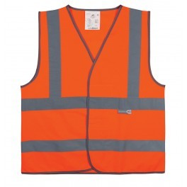 Gilet de sécurité Orange 4 bandes -du M au XXL